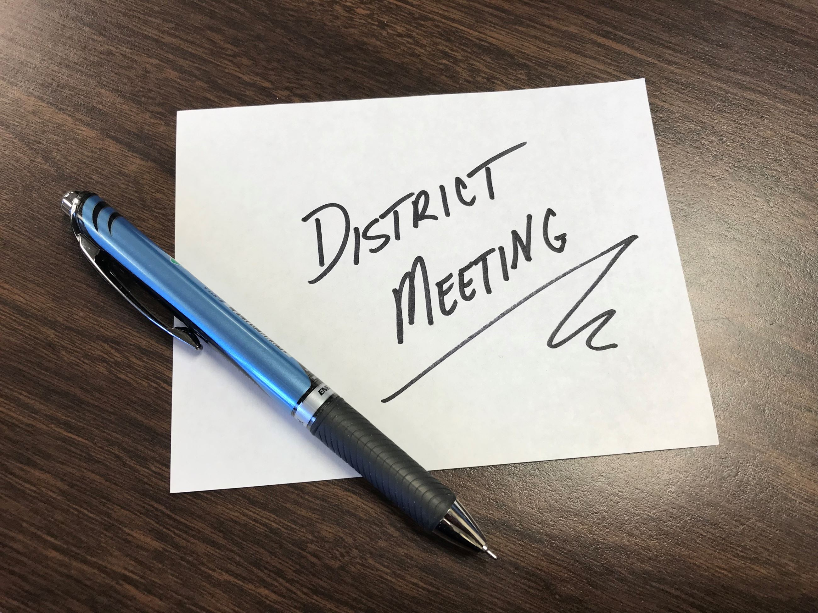 District Meeting Note