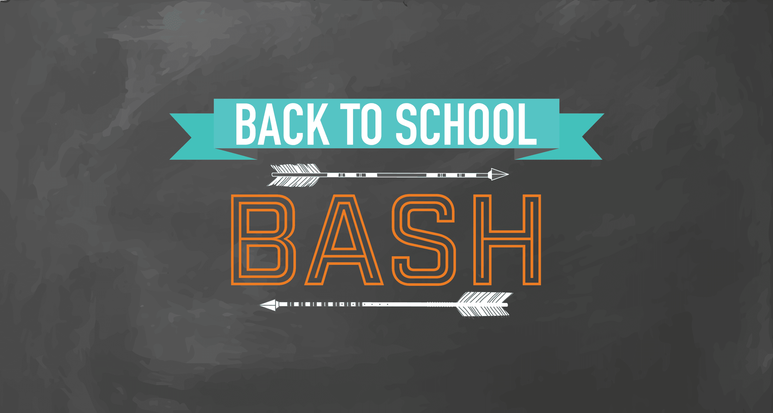 Back to School Bash Sign