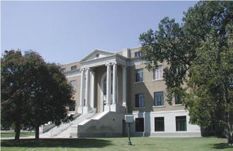 Exterior of the Pawnee County Courthouse