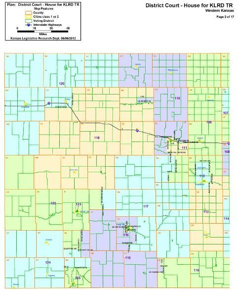 Western Kansas House Map