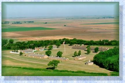 Aerial view of Fort Larned National Historic Site